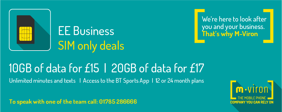 Ee Business Sim Only Deals M Viron Staffordshire S Premier Ee Business Mobile Phone Supplier